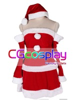 Free Shipping Cosplay Costume Vocaliod Luka Christmas Costume New in Stock Retail / Wholesale Halloween Party Uniform