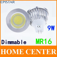4 PCS MR16 9W COB Dimmable LED Sport light lamp High Power bulb More than 120 degrees  DC12V AC12V with tracking number