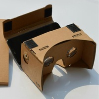 "One piece design cardboard kit With lenses 3D Cardboard Glasses 5.5"" screen# L07363"