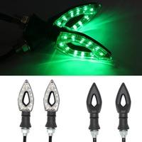 1 Pair Motorcycle Motorbike Green/Blue/White/Yellow 12 SMD LED Turn Signal Light Bulb Indicator 12V Drop Ship
