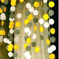 Wedding Garland,white, gold & White Paper Garland - Baby Shower, Birthday Decor, Party Decorations