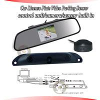 NEW OEM video sensor parking,LCD mirror display alarm distance,sensors,car camera,control unit built in,outside buzzer alarm