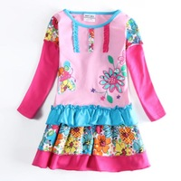 Fashion New Children Girl's Flower Pattern Layered 1-6Y Girl Dress Clothing Wholesale Girl Kid Floral Dresses Wear Clothes H5602