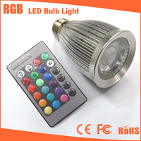 LED RGB Bulb 7w  GU10/E27/MR16/GU5.3/E14 9W 16 Color LED lamp spotlight RGB with IR Remote