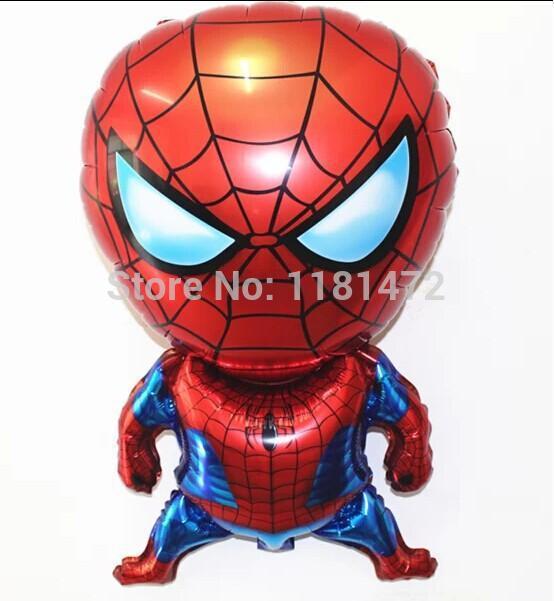80cm 5pcs/lot spiderman shape cartoon foil balloons spiderman party supplies birthday party decoration spider man free ship(China (Mainland))