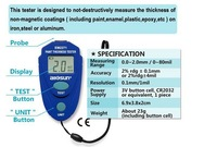 0.0mm to 2.0mm,0mil to 80mil Digital Coating Thickness Meter Car Painting Thickness Tester Gauge Coatings Measuring Instruments