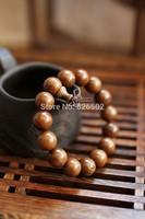2014 Fashion Men Buddhism 15pcs 15 mm meditation Buddha Bead Bracelet bangle natural Sandalwood Religion prayer Bracelet jewelry