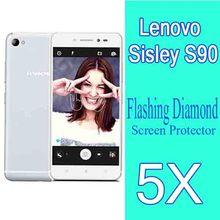 5pcs Diamond Sparkling Protective Guard Film Lenovo Sisley S90 Screen Protector,Lenovo Sisley S90 Bling Screen Protective Film