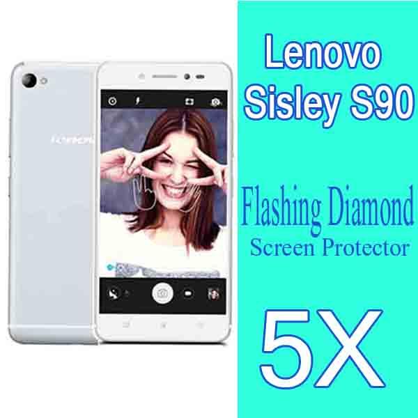 5pcs Diamond Sparkling Protective Guard Film Lenovo Sisley S90 Screen Protector,Lenovo Sisley S90 Bling Screen Protective Film(China (Mainland))
