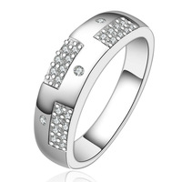CZ crystal women Rings jewelry 925 Silver Ring 2014 new Fashion wholesale Free Shipping wedding ring PCR617