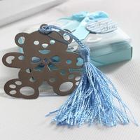 Wholesale Free Shipping 10pcs Bear Design Bookmark Gift Box Favors Birthday Gift Metal Bookmarks