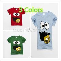 2015 Summer Children Clothes Boys Girls Unisex T-Shirt Multicolor Optional Cartoon Children T-shirts Cotton Children's T-shirt30