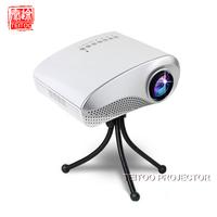 New White 200lumens LED 3D projector,Electric Zoom Portable Video Pico Micro Small Mini tv Projector,HDMI USB AV VGA TV Tuner
