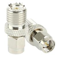 Coaxial SMA Male to Mini UHF Female Computer Adapter