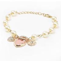 Hot sale# New Arrivals Jewelry,Korean style Heart flower letter D pendant Charm Bracelet
