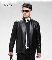 Free shipping jacket men leather jacket collar men's leather motorcycle leather winter jacket men leather jacket men