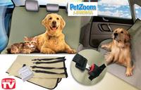 Wholesale 2Set/lot PetZoom Loungee Auto Car Dog Pet Seat Cover  Waterproof Seat Belt Slits Dog Rear Back Seatcover Pet Blanket
