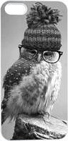 Personalized Owl In Glasses And Hat Hard Unique Designer Slim case for apple iphone 5 5S 5G
