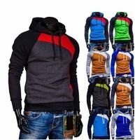 Men Jacket Top Brand Men Dust Coat Hoodies Clothes Sweater Overcoat Outwear Patchwork Pullovers M,L,XL,XXL 1215