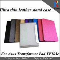 "Brand New For Asus Transformer Pad TF103C Ultra thin PU leather stand cover,TF103C 10.1"" tablet slim leather case, many color"