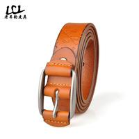 100% genuine leather belts famous designer luxury waist wide men strap  high quality  Both men and women of ceinture