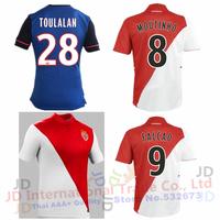 Free shipping AS Monaco 2015 soccer Jerseys away blue Falcao James Jersey home white red Abidal Toulalan football shirts 14 15