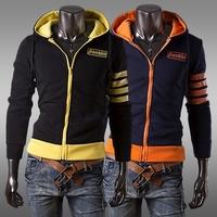 2014 Hot Casual Men's Jacket Baseball Fashion Jackets Solid Hoodies Cardigan Coat Male Outwear Jackets Free Shipping W84001401