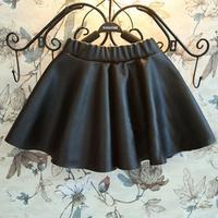 2015 Black apparel Pettiskirt gilrs Tutu skirt ballet one piece kids girls pu skirt Design solid Baby Faux Leather clothes HDA07
