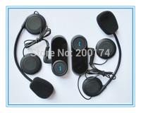 2pcs x BT Motorcycle Helmet Bluetooth Headset Motorbike Intercom Headset 1000M