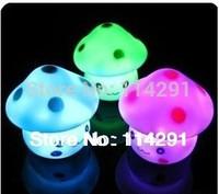 novelty items 2015 New Mushroom Colorful Nightlight Creative LED Lamps novelty households night lamp luminaria bedside abajur