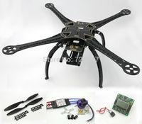 S500 Quadcopter Frame Kit (Black ) W/ KK2.15 Flight Controller Angel 2212 980kv Motor 30A Simonk