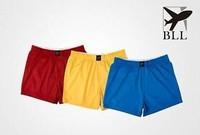 men home shorts brand BLL 100% cotton loose flat feet panties breathable aro pants home plaid boxers shorts men bodywear