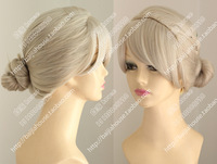 Free shipping Elsa-cosplay wig Frozen Anime wigs Golden crown king dish hair modelling wig