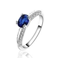 wholesale Free Shipping 925 Silver Ring CZ crystal wedding ring women Rings jewelry 2014 new Fashion punk PCR627-B
