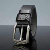 High-quality classic Cowskin Belts Stainless steel 100% Genuine Leather men Belts Man Necessary ,Value for money