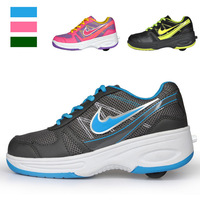 2014 new boys and girls sport shoes kids/children roller shoes with one wheel fashion footwear children shoes
