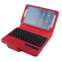 Brand Wireless Bluetooth Removable Leather Keyboard Case + Keyboard(Russian Keyboard) For Samsung Galaxy Tab 4 T230 T231 7.0'