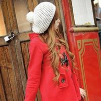 Kawaii woman in winter hat wholesale knit diy ball decorative type