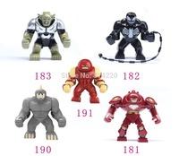 50pcs Big juggernaut Venom Lazy Rhino VS Hulk Buster Green Goblin Figures Toys Marvel Building Blocks Action Figures Bricks Toys