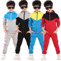 hot! new spring autumn outwear children 2 pcs suit boys clothing set hoodie+pants baby set kids sport suit Retail