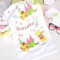 3pcs/lot 30*50cm cotton towels children cartoon face towel 100% cotton toalha de rosto