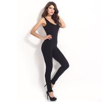 2014 European style Women Jumpsuits O-neck Vest Sexy Black Full Length Jumpsuit,SB412