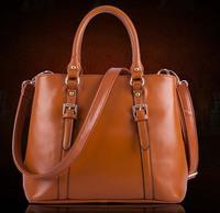Hot Sale New 2015 Fashion Brand scrub genuine leather handbag messenger bag 4 Colors Gift free shipping hot sell BK050