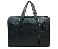 TOP 100% genuine leather man bag men's business fashion crocodile grain cowhide leather briefcase shoulder bags wholesale