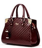 New women genuine patent leather handbag fashion women messenger bags brand tote clutch bag shoulder bag crossbody bags BK030