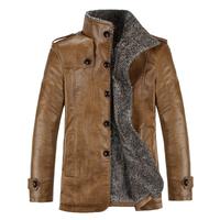 Hot-selling! 2014 new Men High quality PU leather jacket fashion Men casual slim Plush inside leather jacket coat free shipping