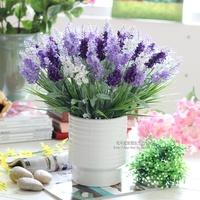 Fashion lavender ceramic vase artificial flower set living room decoration silk flower bowyer