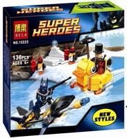 Action Figures Bela 10225 Super Heroes Series136pcs The Penguin Face Off Building block sets include PENGUIN Batman minifigures