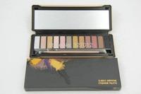 2014 hot brand new nake 5 makeup eyeshadow palette 12 colors NK4 Eye Shadow Brush makeup set