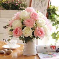 Dream rose ceramic vase overall floral fashion rose set decoration flower